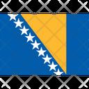 Flag Country Bosnia And Herzegovina Icon