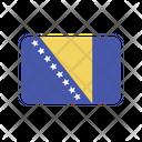 Bosnia And Herzegovina Flag Country Icon