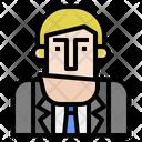 Boss Man Worker Icon