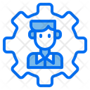 Bussiness Bussinessman Gear Icon