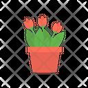 Botanical Tulip Nature Icon