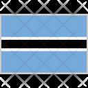 Botswana Flag Country Icon