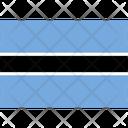 Flag Country Botswana Icon
