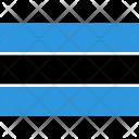 Botswana Flag World Icon