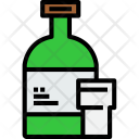 Bottle With Glasses Icon