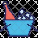 Bottle Ice Bucket Icon