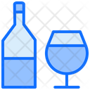 Wine Bottle And Glass Icon