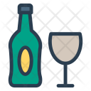Bottle Champagne Glass Icon