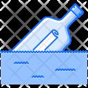 Bottle Letter Paper Icon