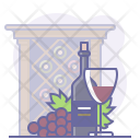 Bottle Glass Grapes Icon