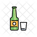 Bottle And Glass Wine Bottle Glass Icon
