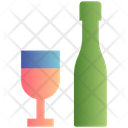 Bottle And Glass Beer Beverage Icon