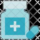 Pharmacy Bottle Capsule Medicine Icon