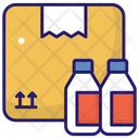 Bottle Carton Product Packing Bottle Icon