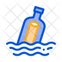 Bottle Message Seacommunication Icon