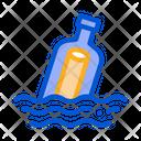 Bottle Message Icon