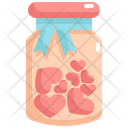 Bottle Of Hearts Icon