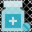 Pharmacy Bottle Pills Medicine Icon