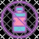 Bottle Prohibition Plastic Ecology Icon