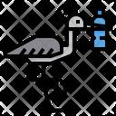 Bottle Stuck On Bird Icon