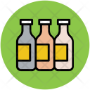 Bottles Liquid Milk Icon