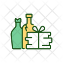 Bottles And Waste Paper Icon