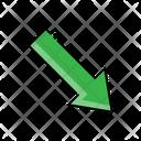Bottom Arrow Down Arrow Icon