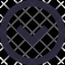 Down Arrow Bottom Icon