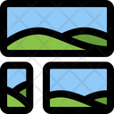 Bottom Left Image Grid Icon