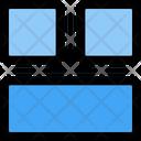 Bottom Row Layout Icon