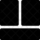 Bottom Sidebar Layout Icon