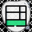 Bottom Sidebar List Grid Icon