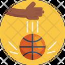 Bouncing A Ball Player Bouncing A Ball Basketball Icon