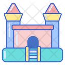 Bouncy Castle Jumping Toy Fun Icon