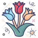 Bouquet Roses Spring Flower Icon