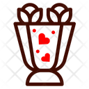 Bouquet Flower Heart Icon