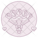 Bouquet Roses Flowers Icon