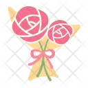 Bouquet Roses Icon