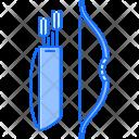 Bow Arrow Quiver Icon