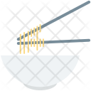 Bowl Chopsticks Noodles Icon