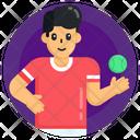 Sportsperson Cricketer Player Icon