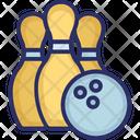 Alley Pins Bowling Ball Hitting Pins Icon