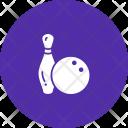Bowling Ball Pin Icon