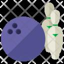 Bowling Ball Pins Icon