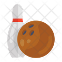 Bowling Alley Pins Bowling Ball Icon