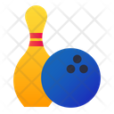 Bowling Game Skittle Icon