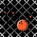 Alley Pins Bowling Hitting Pins Icon