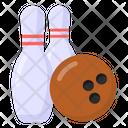 Bowling Alley Pins Hitting Pins Icon