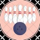 Bowling Ball Skittles Icon