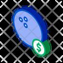 Ball Bowling Coin Icon